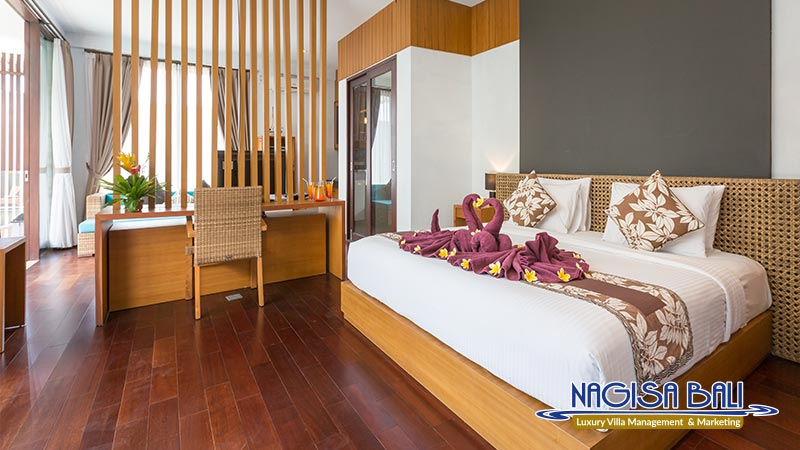 nagisa bali bay view villas double bed room