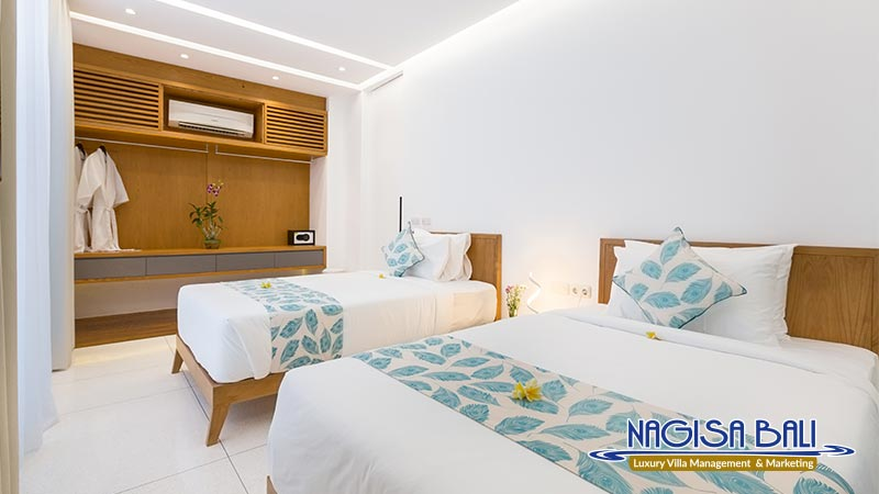 villa damar canggu beautiful twin bed by nagisa bali