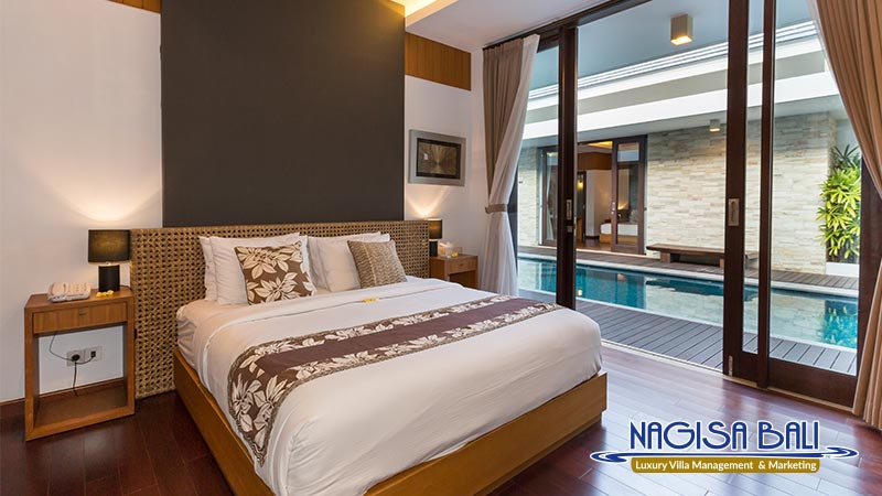 nagisa bali bay view villas bedroom cozy and comfortable