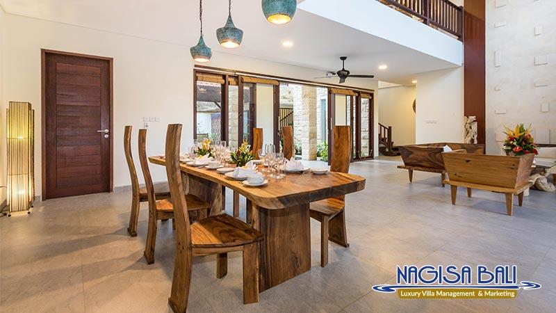 villa atap padi ubud dining room by nagisa bali