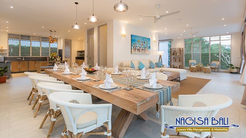 villa hasian jimbaran dining room by nagisa bali