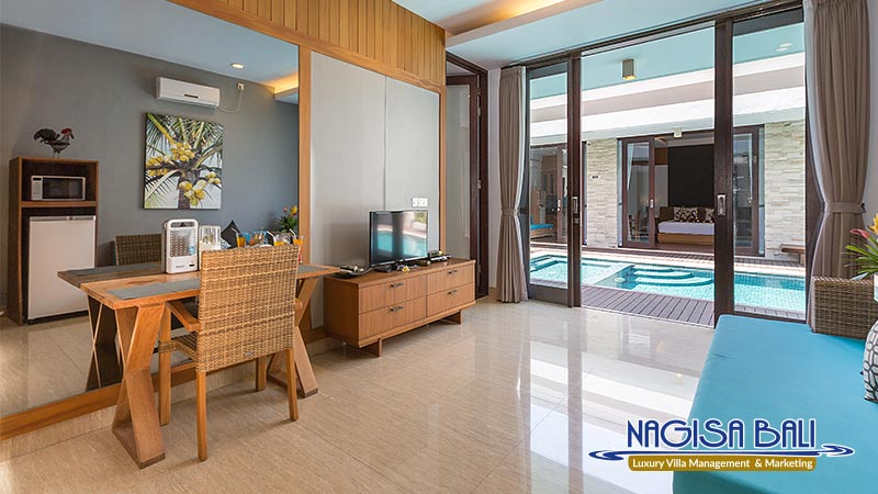 nagisa bali bay view villas living direct to pool