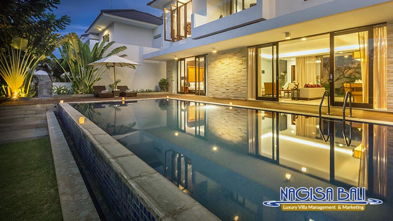 nagisa bali bay view villa night view pool