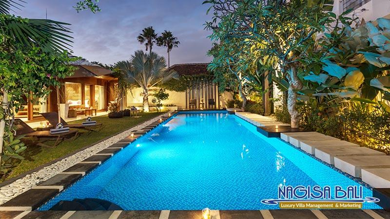 cc villa seminyak beautiful pool night view by nagisa bali
