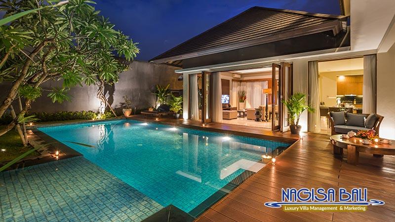 entrada villa seminyak beautiful night view by nagisa bali