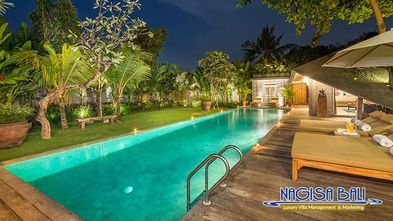 jadine bali villa beautiful pool night view by nagisa bali