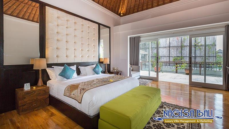 jadine bali villa elegant double bed bedroom by nagisa bali