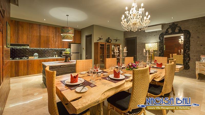 jadine bali villa dining with full set by nagisa bali