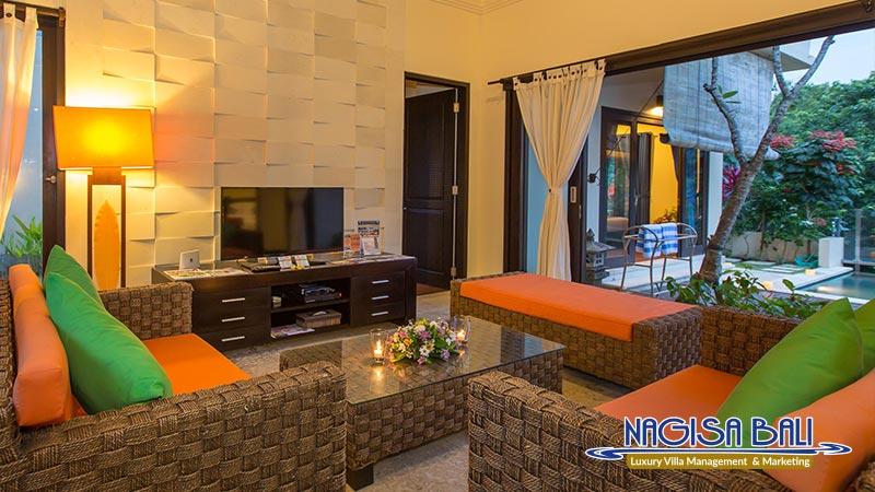 the reika villas living room by nagisa bali