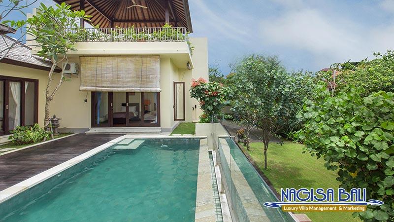 the reika villas pool and garden view by nagisa bali