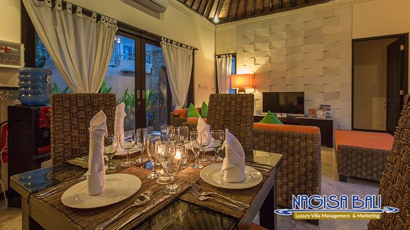 the reika villas dining room by nagisa bali
