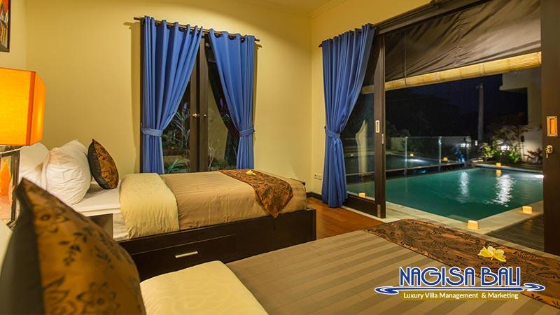 the reika villas twin bedroom direct to pool by nagisa bali