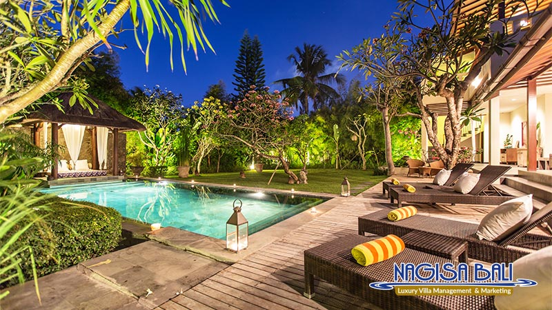 villa balidamai beautiful pool night view by nagisa bali