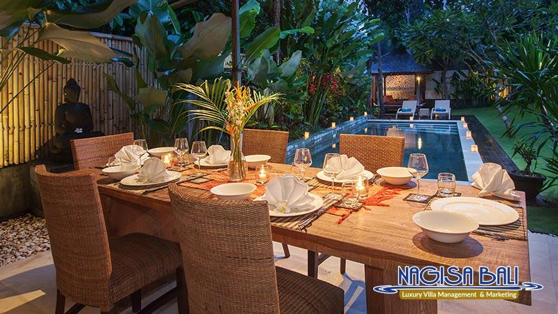 villa liang dining setup by nagisa bali