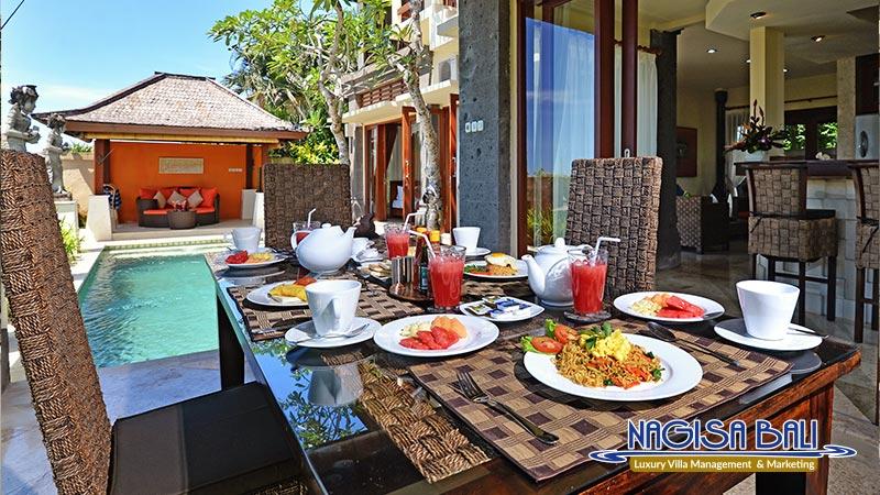 villa lidwina beautiful dining room setup by nagisa bali