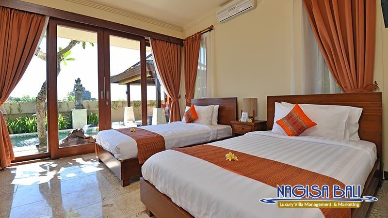 villa lidwina beautiful setup on twin bedroom by nagisa bali