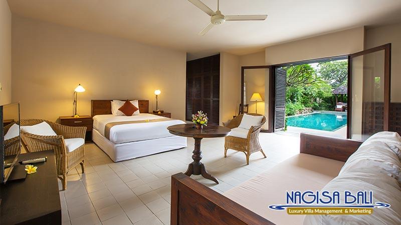 villa roku seminyak poolside bedroom full setup by nagisa bali