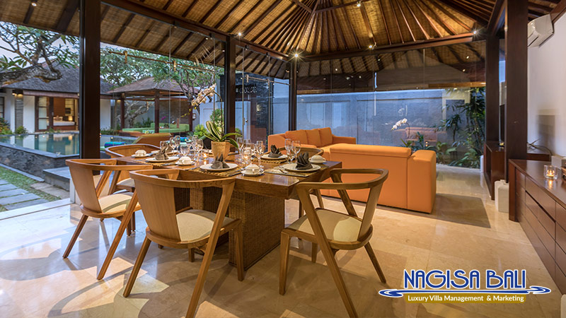 villa litera seminyak dining and living room by nagisa bali