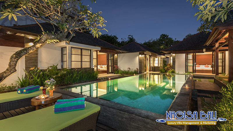 villa litera seminyak beautiful night view by nagisa bali