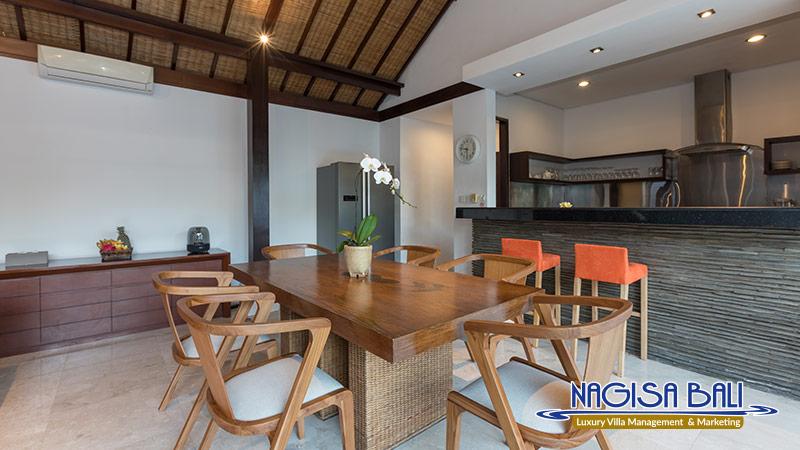 villa litera seminyak dining room by nagisa bali